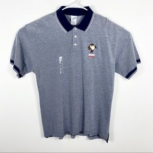 NWT Warner Brothers Tasmanian Devil Polo Shirt L